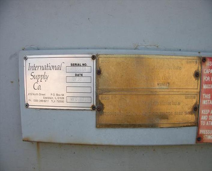 1996 Int Supply Co WO 6738 Enclosure